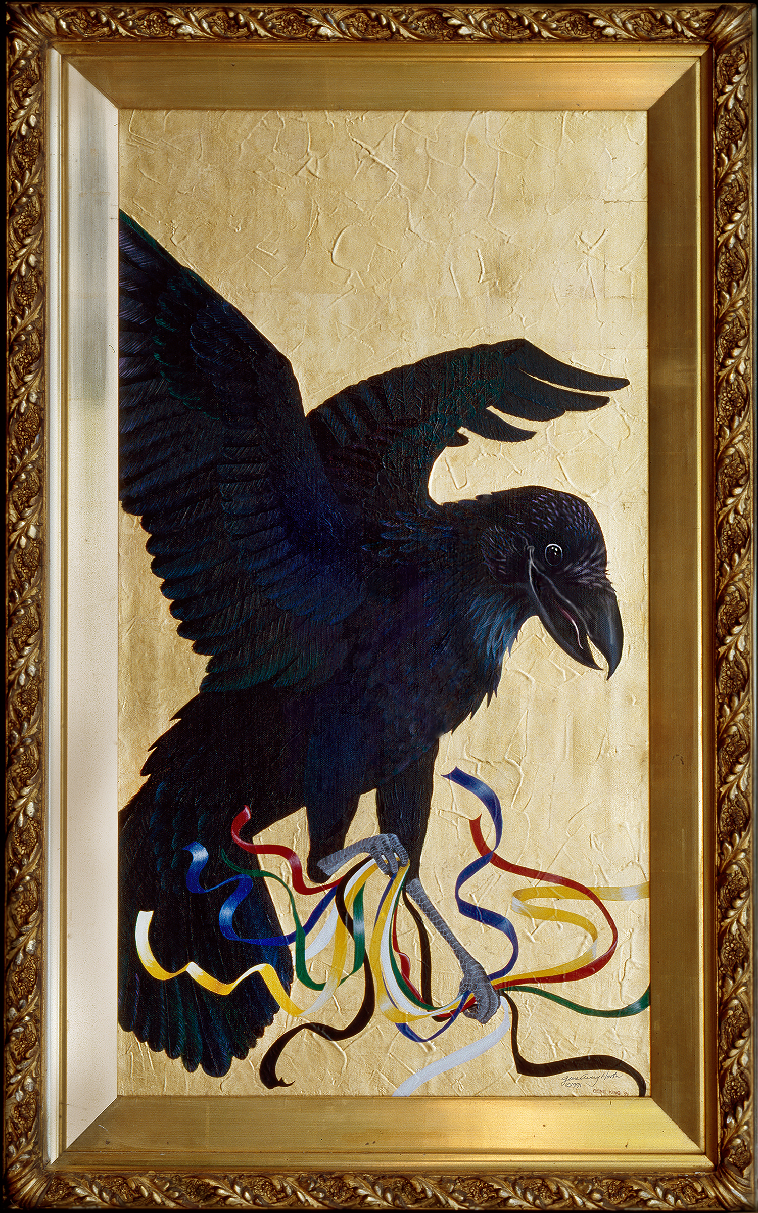 ©1991, Raven Makes Some Prayers, 20x32""