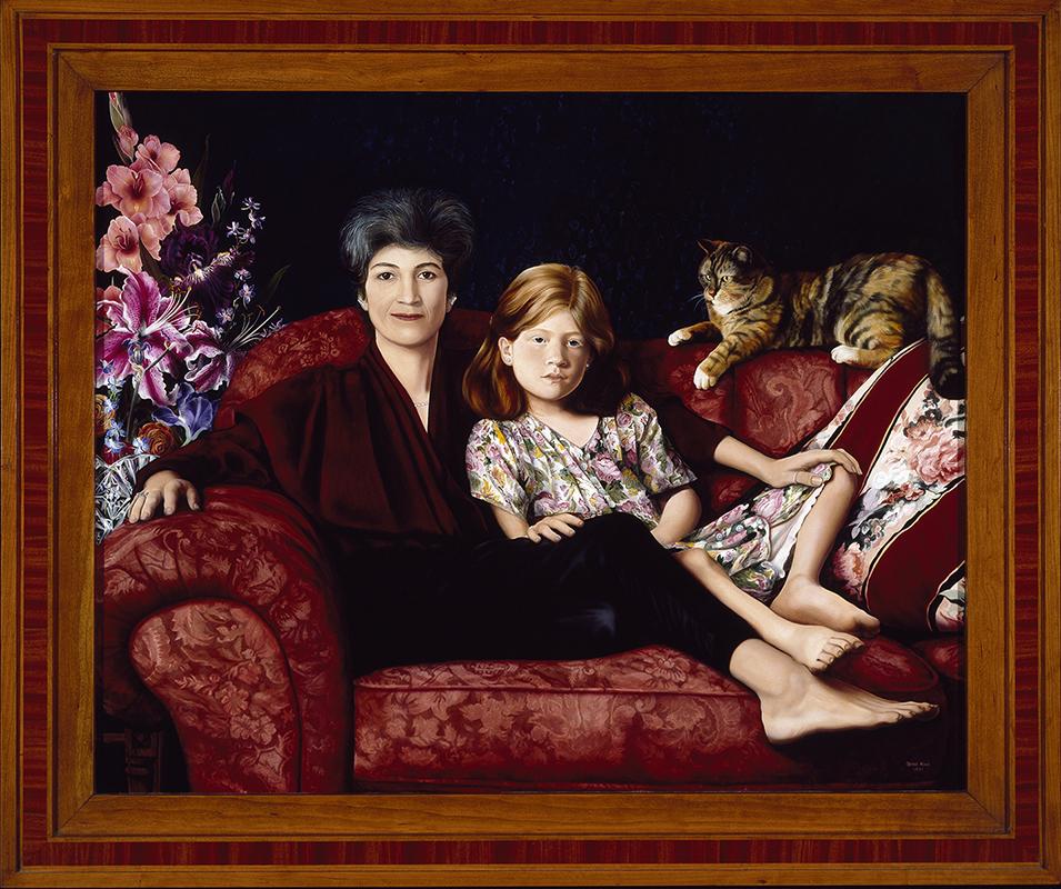 """©1995, Carol & Angela, 40x48"""", oil"""