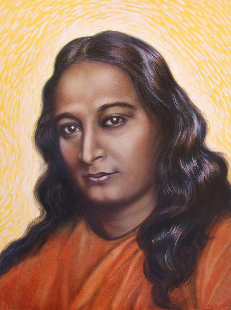 """©2010, Paramahansa Yogananda, 11x14"""", oil"""