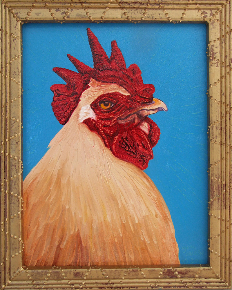 "©2011, Yellow Rooster, 11x14"", oil"