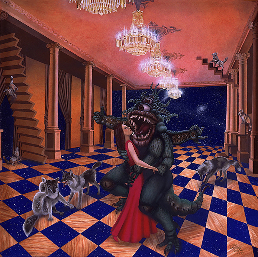 "©1994, Doin' the Twelve Step, 24x24"", oil"