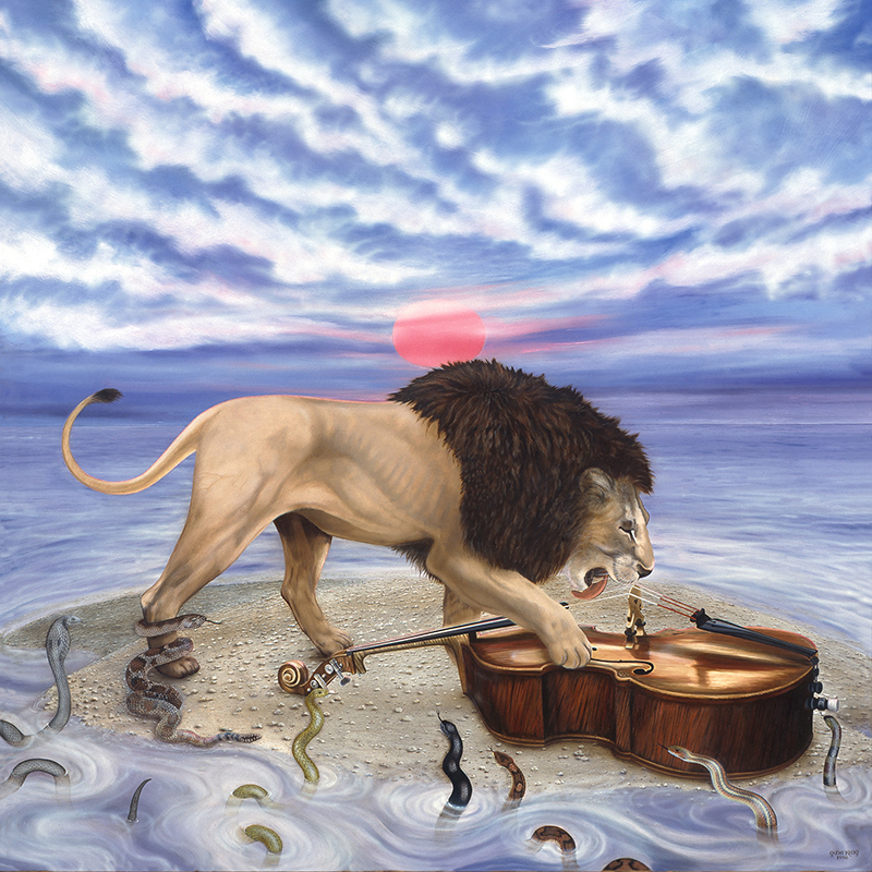 "©1996, Lion & Bach, 36x36"", oil"